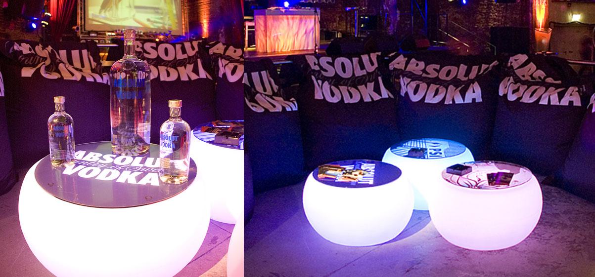 Crow´n Crow GmbH & Co. KG led lounge tisch