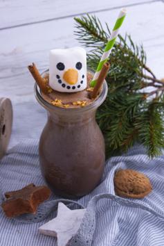 Heißer Schneemann im Weckglas