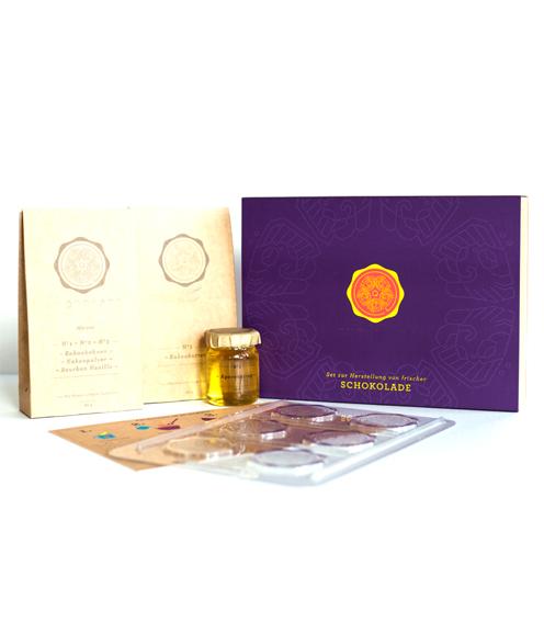 4Qtrade GmbH Schokolade zum Selbermachen Indigo Violet